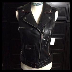 Sam Edelman Moto Leather Vest